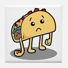 Sad Taco Tile Coaster