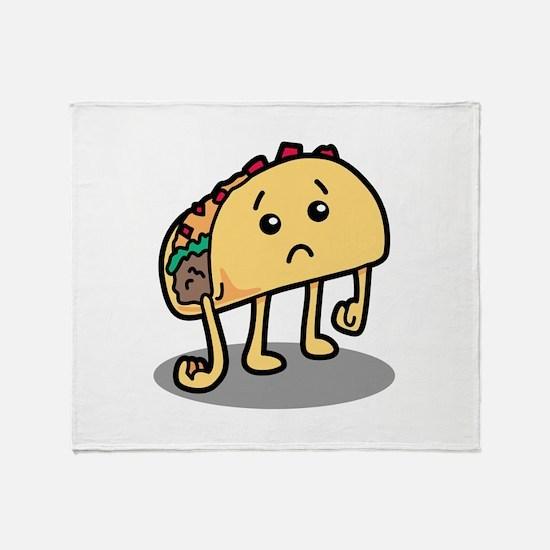 Sad Taco Throw Blanket