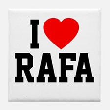 I Love Rafa Tile Coaster