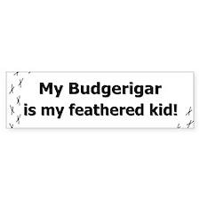 Budgerigar Feathered Kid Bumper Bumper Bumper Sticker