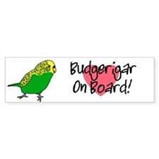Budgerigar On Board Bumper Sticker (white)