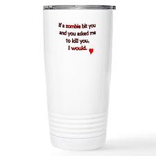 Zombie bite love - Travel Mug