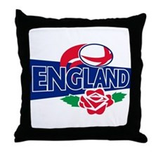 rugby england rose Throw Pillow