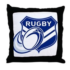 rugby shield Throw Pillow