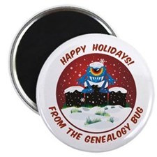 Happy Holidays! From The Genealogy Bug Magnet