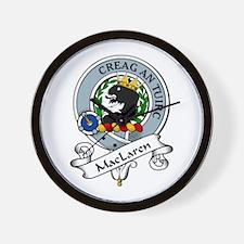 MacLaren Clan Badge Wall Clock