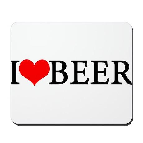 I love beer Mousepad