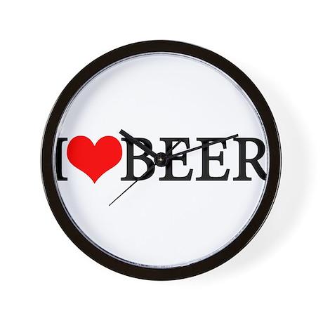 I love beer Wall Clock