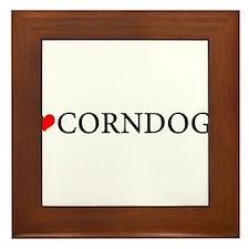 I love corndogs Framed Tile
