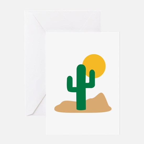 Desert cactus Greeting Card