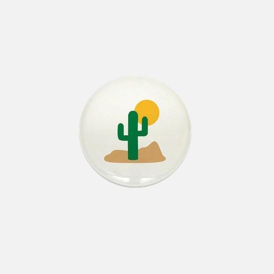 Desert cactus Mini Button