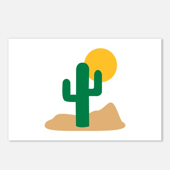 Desert cactus Postcards (Package of 8)
