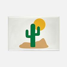 Desert cactus Rectangle Magnet