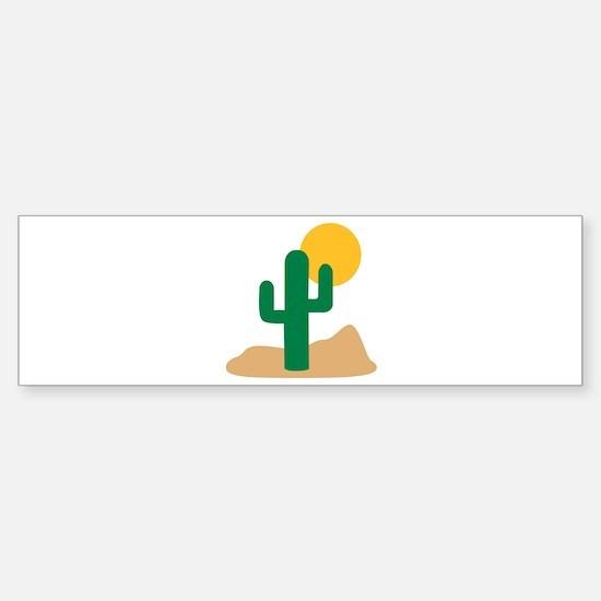 Desert cactus Sticker (Bumper)
