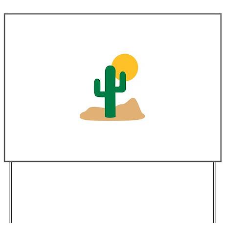 Desert cactus Yard Sign