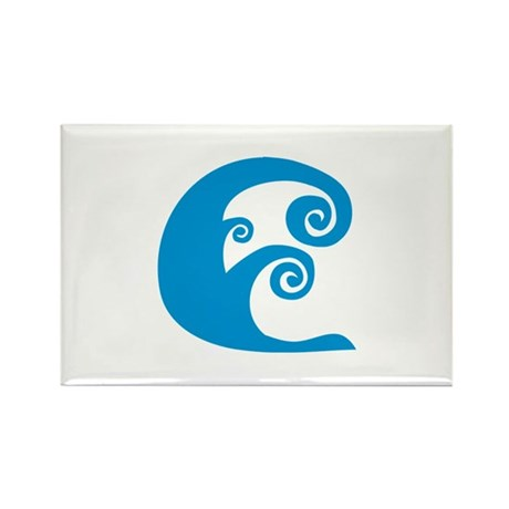 Waves Rectangle Magnet (100 pack)