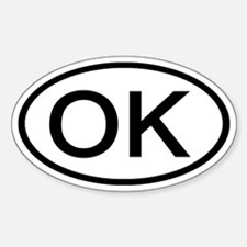 Oklahoma - OK - US Oval Oval Decal