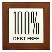 100 Percent Debt Free Framed Tile