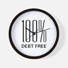 100 Percent Debt Free Wall Clock