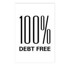 100 Percent Debt Free Postcards (Package of 8)