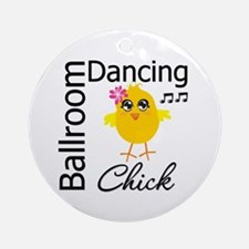 Ballroom Dancing Chick Ornament (Round)