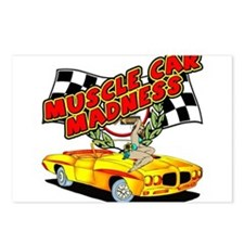 Muscle Car Madness Postcards (Package of 8)