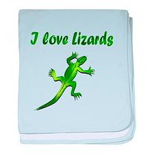 Lizard baby blanket