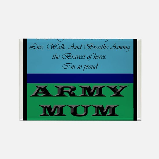 Cute Army proud Rectangle Magnet
