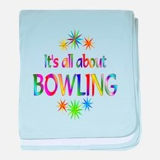 Bowling baby blanket
