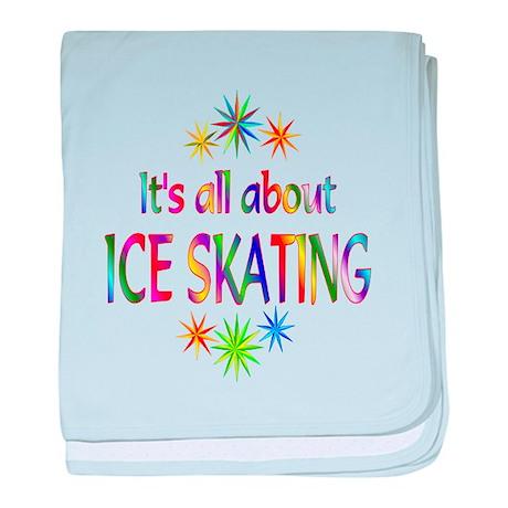 Ice Skating baby blanket