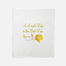 Simple Life Throw Blanket