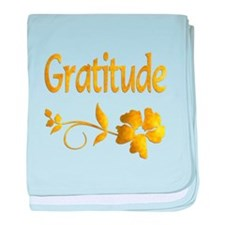 Gratitude baby blanket
