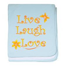 Live Laugh Love baby blanket