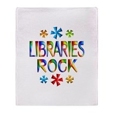 Libraries Throw Blanket