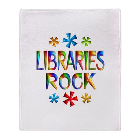 Libraries Throw Blanket