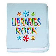 Libraries baby blanket