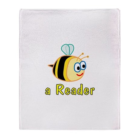 Book Reading Throw Blanket