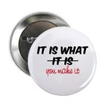"It Is What You Make It 2.25"" Button"