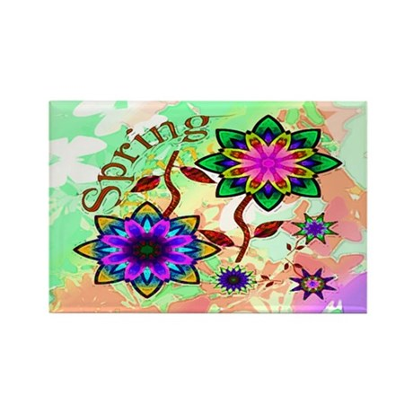 Spring Flowers Rectangle Magnet (10 pack)