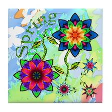 Spring Flowers Tile Coaster