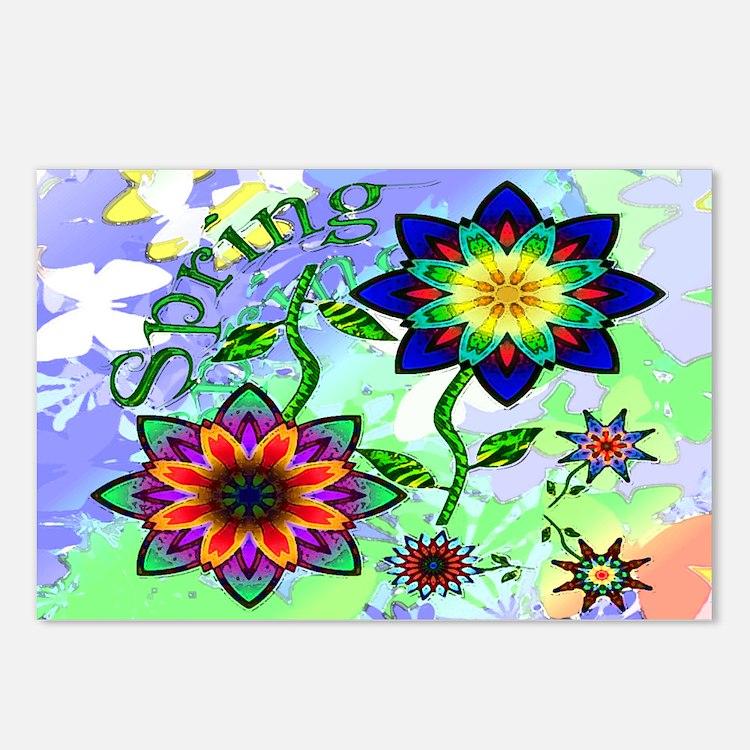 Spring Flowers Postcards (Package of 8)