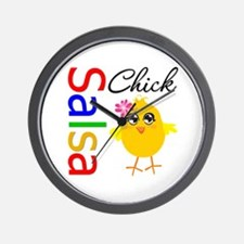 Salsa Chick Wall Clock
