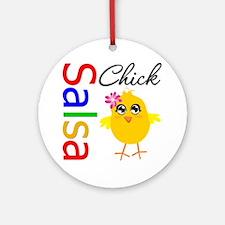 Salsa Chick Ornament (Round)