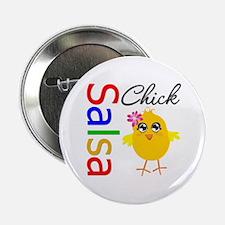 """Salsa Chick 2.25"""" Button"""