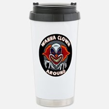 Evil Clown Stainless Steel Travel Mug