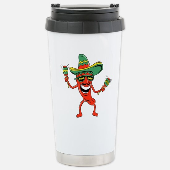 Hot Mexican Pepper Stainless Steel Travel Mug