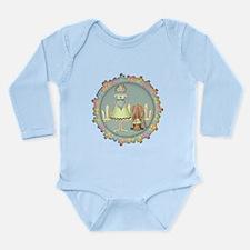 County Girl and Donkey Long Sleeve Infant Bodysuit