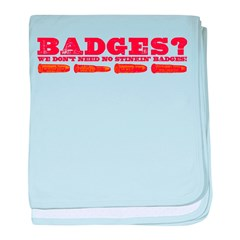 Badges Red/Yellow Bullets baby blanket
