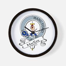 MacKay Clan Badge Wall Clock