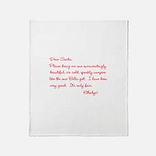 Twilight Edward Christmas Throw Blanket